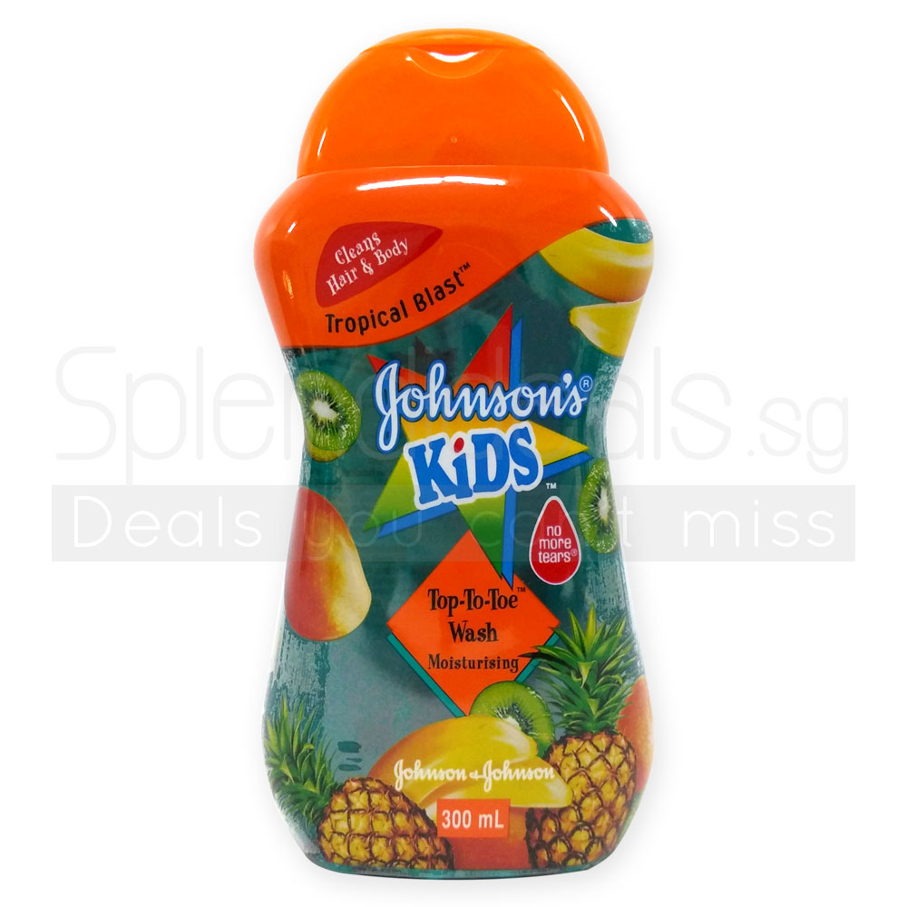 Kids Bath Johnson S Kids Top To Toe Wash Moist Tropical