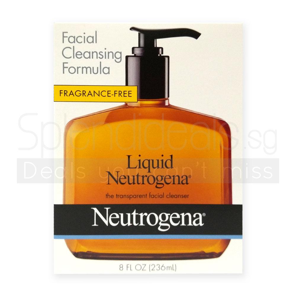 Pump Bottle Cleanser Neutrogena Liquid Facial Cleanser