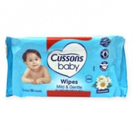 Cussons Baby Wipes - Mild And Gentle 50 wipes x 2