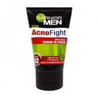 Garnier MEN Acno Fight Anti Ance Scrub in Foam Cleanser 100ml