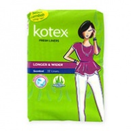 Kotex Pantyliners - Fresh Longer & Wider Scented with Aloe Vera 32s