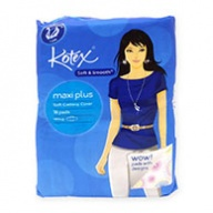 Kotex Sanitary Pads - Smooth & Soft Maxi Plus Maxi Wing 16s
