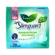 Laurier Sanitary Pads - Super Slimguard 22.5 cm Wings 20s